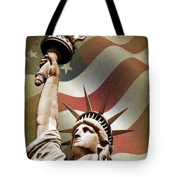 Statue Of Liberty Tote Bag by Mark Rogan