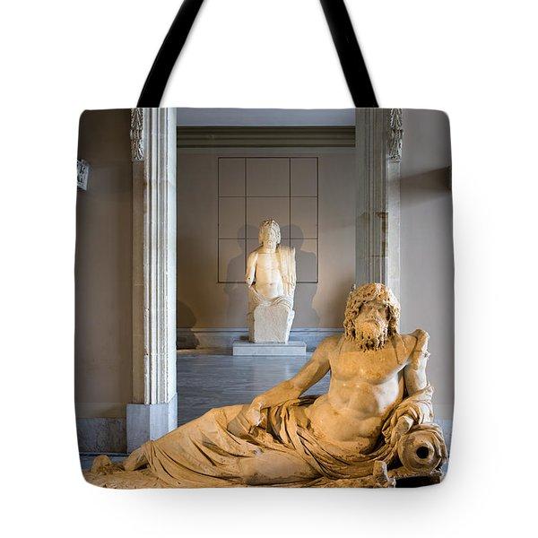 Statue Of The Oceanus Tote Bag by Artur Bogacki
