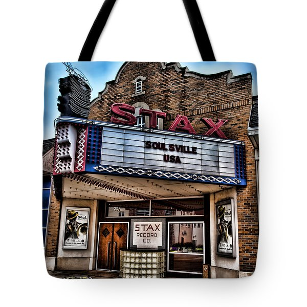 Stax Records Tote Bag by Stephen Stookey