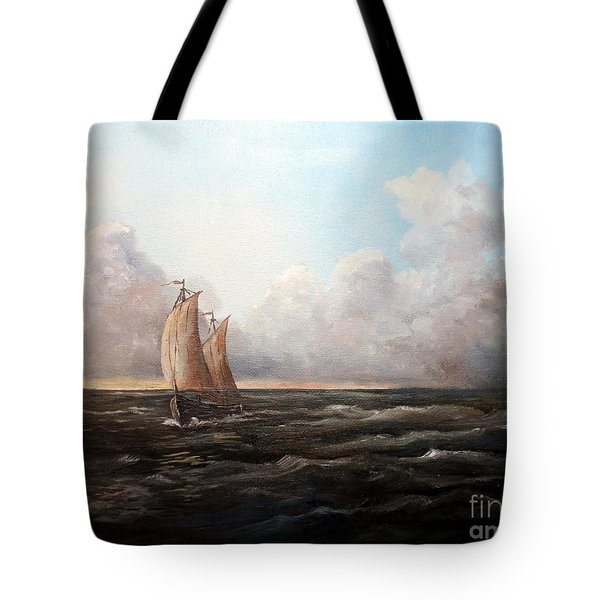 Staying Ahead Of The Weather Tote Bag by Lee Piper