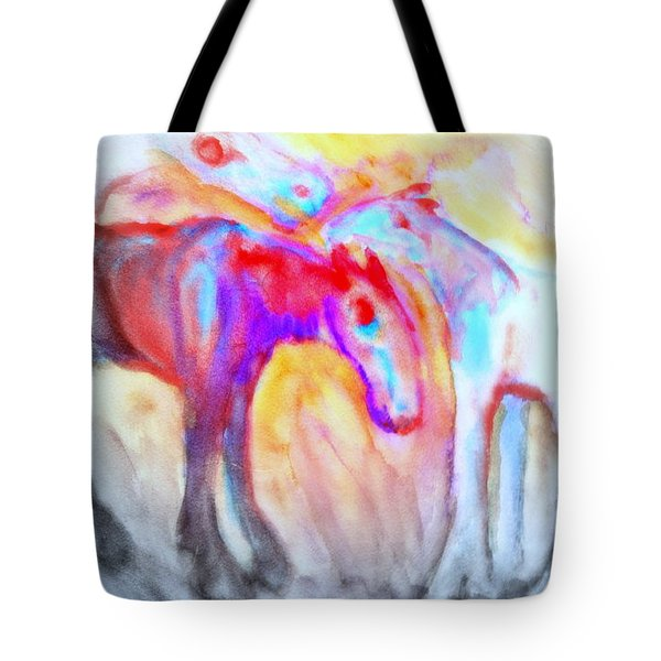 staying alive Tote Bag by Hilde Widerberg