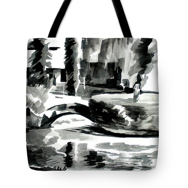 Ste Marie Du Lac Pond And Parish Tote Bag by Kip DeVore