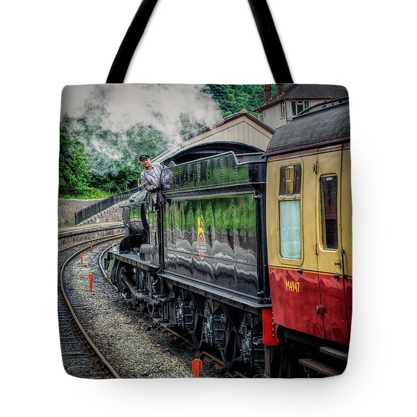 Steam Train 3802 Tote Bag by Adrian Evans