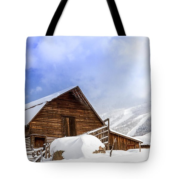Steamboat Springs Barn And Ski Area Tote Bag by Teri Virbickis