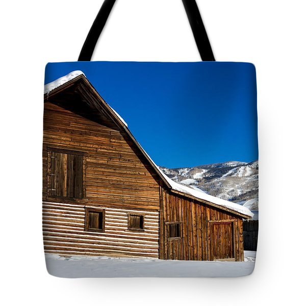 Steamboat Springs Historic Barn Tote Bag by Teri Virbickis