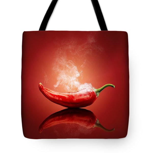 Steaming Hot Chilli Tote Bag by Johan Swanepoel