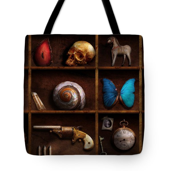 Steampunk - A box of curiosities Tote Bag by Mike Savad