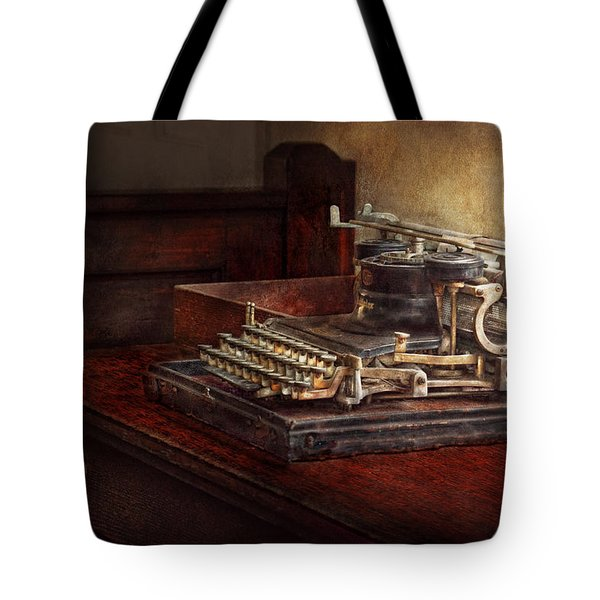 Steampunk - A crusty old typewriter Tote Bag by Mike Savad