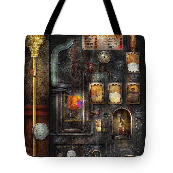 Steampunk - All that for a cup of coffee Tote Bag by Mike Savad