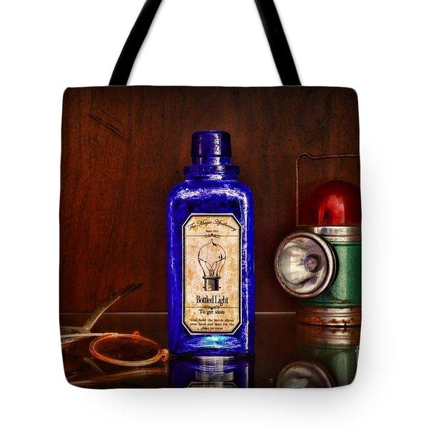 Steampunk Bottled Light Tote Bag by Paul Ward