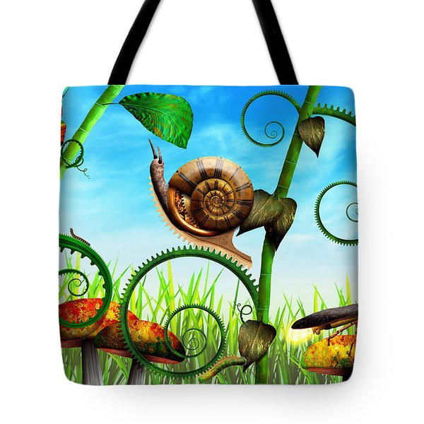 Steampunk - Bugs - Evolution Take Time Tote Bag by Mike Savad