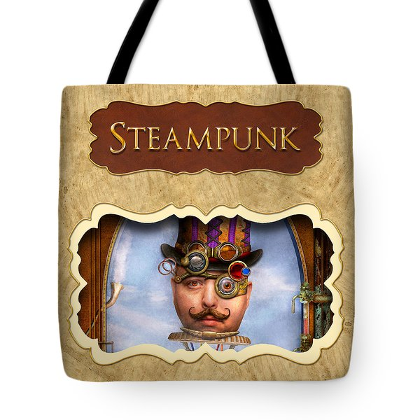 Steampunk Button Tote Bag by Mike Savad