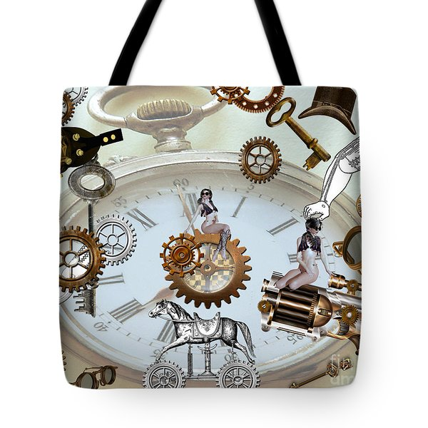 Steampunk Tote Bag by Cheryl Young