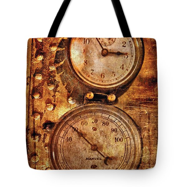 Steampunk - Gauges Tote Bag by Mike Savad