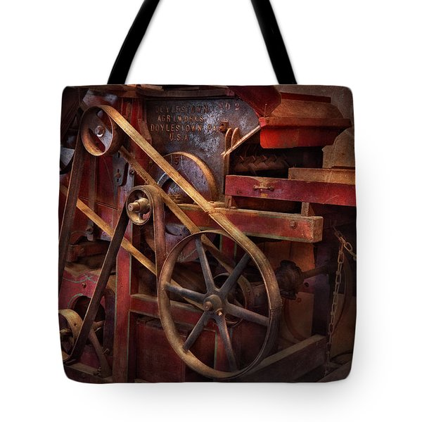 Steampunk - Gear - Belts And Wheels  Tote Bag by Mike Savad