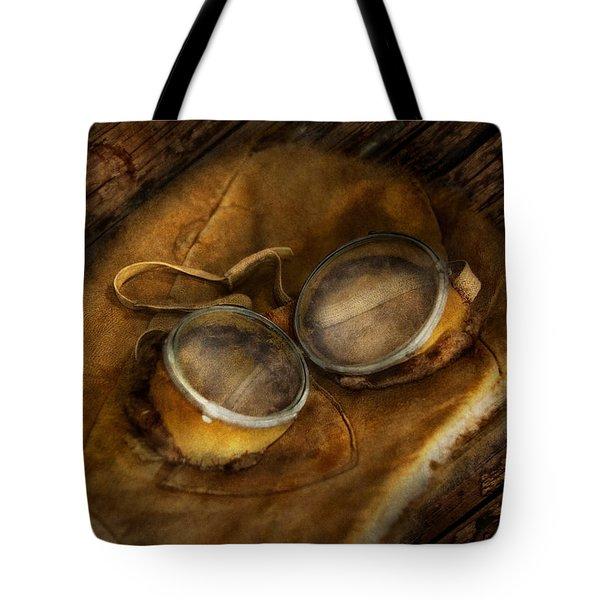 Steampunk - Hey Fly-boy  Tote Bag by Mike Savad