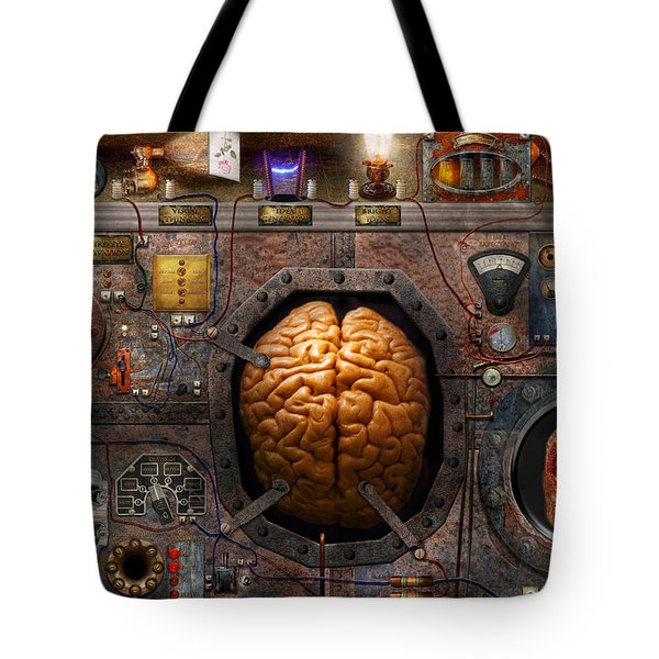 Steampunk - Information overload Tote Bag by Mike Savad