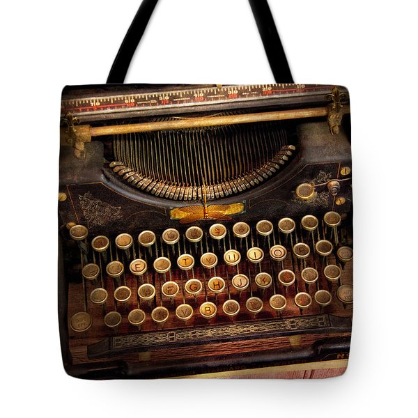 Steampunk - Just an ordinary typewriter  Tote Bag by Mike Savad