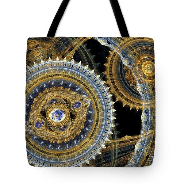 Steampunk Machine Tote Bag by Martin Capek
