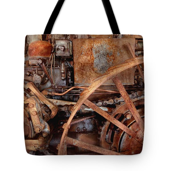 Steampunk - Machine - The industrial age Tote Bag by Mike Savad