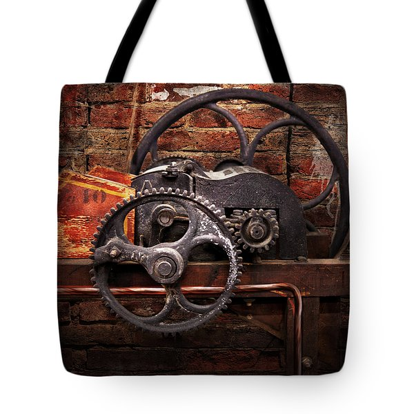 Steampunk - No 10 Tote Bag by Mike Savad