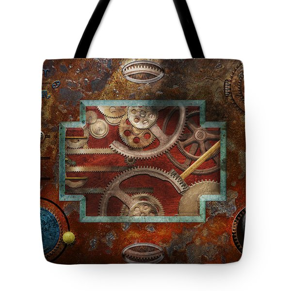 Steampunk - Pandora's box Tote Bag by Mike Savad