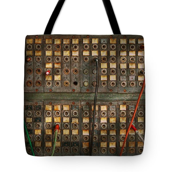 Steampunk - Phones - The Old Switch Board Tote Bag by Mike Savad