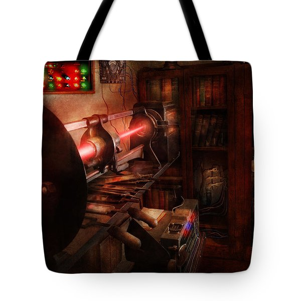 Steampunk - Photonic Experimentation Tote Bag by Mike Savad