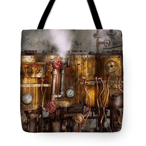 Steampunk - Plumbing - Distilation Apparatus  Tote Bag by Mike Savad