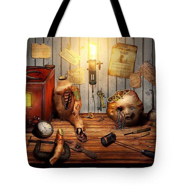 Steampunk - Repairing A Friendship Tote Bag by Mike Savad