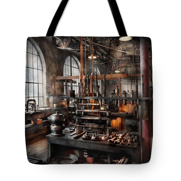 Steampunk - Room - Steampunk Studio Tote Bag by Mike Savad