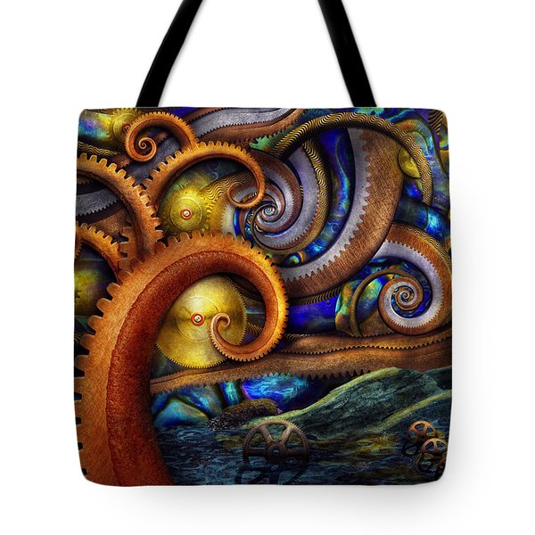 Steampunk - Starry Night Tote Bag by Mike Savad