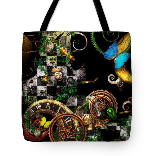Steampunk - Surreal - Mind Games Tote Bag by Mike Savad