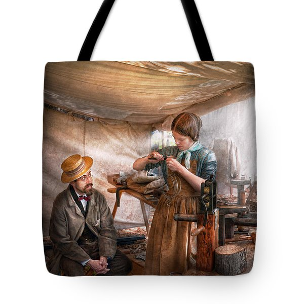 Steampunk - The Apprentice Tote Bag by Mike Savad