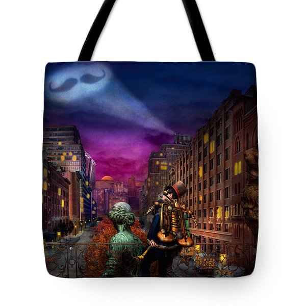 Steampunk - The Great Mustachio Tote Bag by Mike Savad