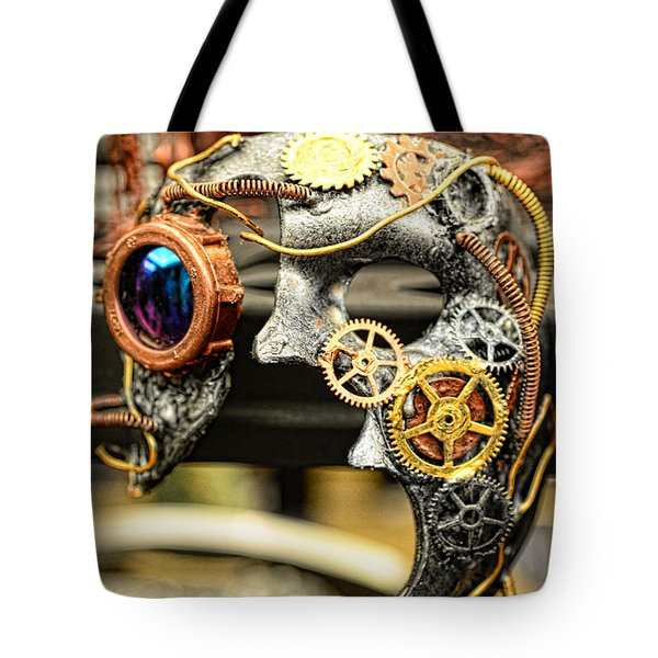 Steampunk - The Mask Tote Bag by Paul Ward