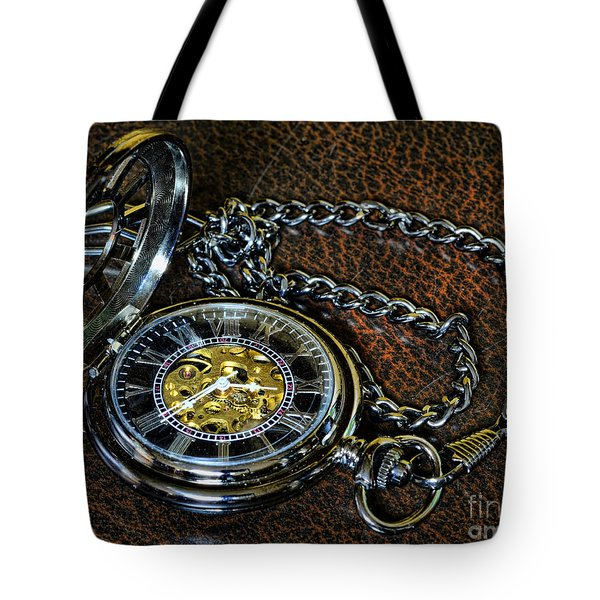 Steampunk - The Pocketwatch Tote Bag by Paul Ward