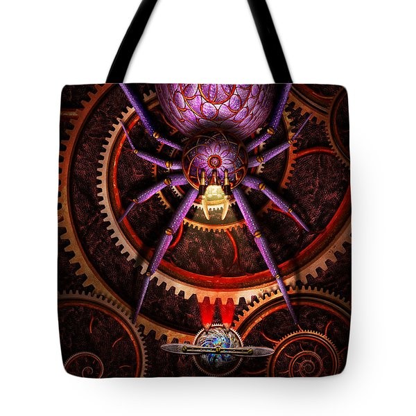 Steampunk - The webs we weave Tote Bag by Mike Savad