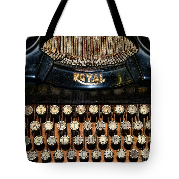 Steampunk - Typewriter -The Royal Tote Bag by Paul Ward