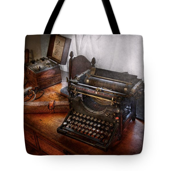Steampunk - Typewriter - The secret messenger  Tote Bag by Mike Savad