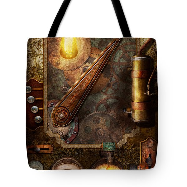 Steampunk - Victorian Fuse Box Tote Bag by Mike Savad