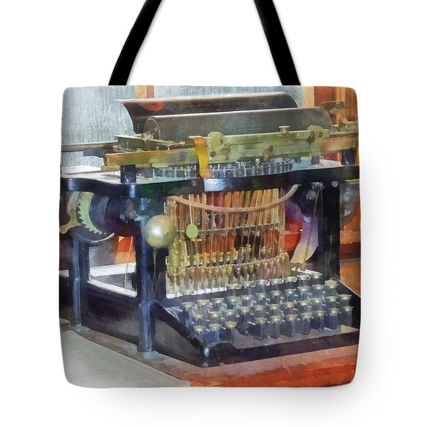 Steampunk - Vintage Typewriter Tote Bag by Susan Savad