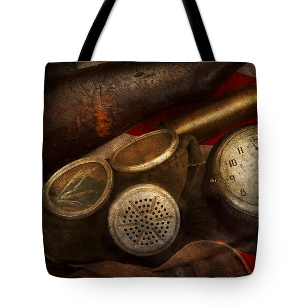 Steampunk - War - Remembering The War Tote Bag by Mike Savad