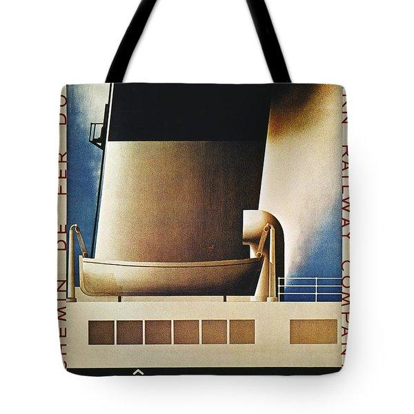 Steamship Travel Poster Tote Bag by Granger