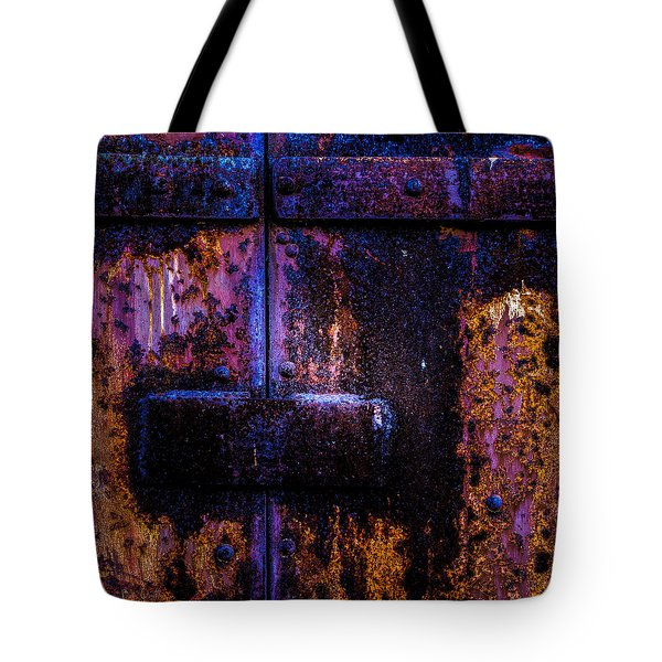 Steel Door Number Three Tote Bag by Bob Orsillo