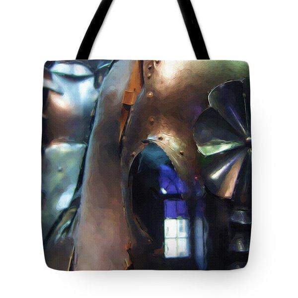 Steel Knight Tote Bag by Ayse Deniz