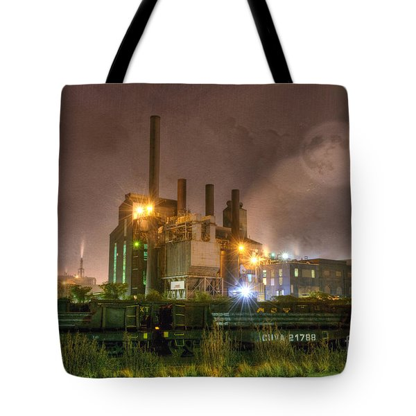 Steel Mill At Night Tote Bag by Juli Scalzi