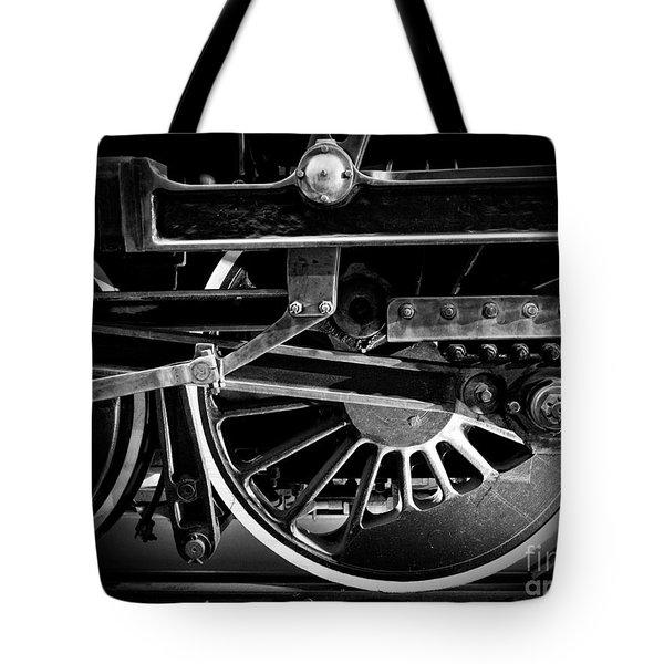 Steel Wheels - Steam Train Drivers Tote Bag by Edward Fielding