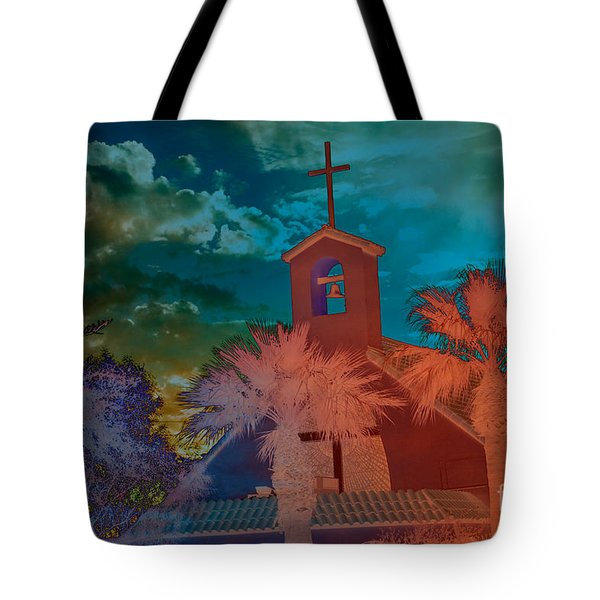 Steeple bell tower Tote Bag by Beverly Guilliams
