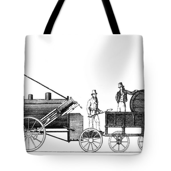 Stephensons Rocket 1829 Tote Bag by Science Source